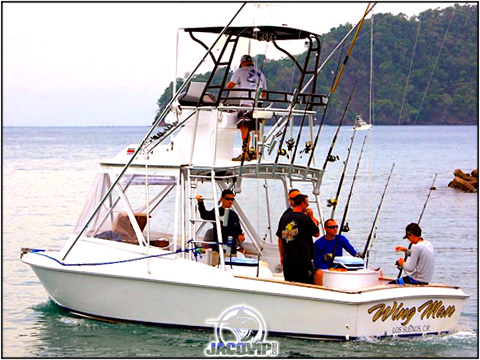 Wing Man 29 Custom Flybridge Sportfishing in Costa Rica