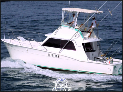 Costa Rica Fishing aboard 36' Hatteras
