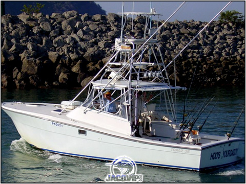 Hoo's Your Daddy 36' Topaz Express with up to 6 anglers