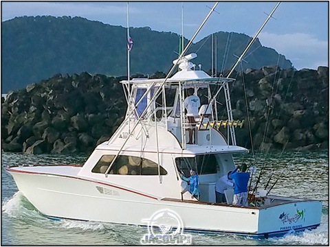 43' Maverick Fishing charter on the Pacific ocean in Costa Rica