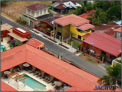 Overhead view of Cocal house and Cocal Pool
