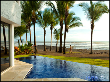 Pool View of Casa del Mar in Hermosa Costa Rica