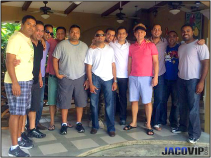 Bachelor party group in the rancho