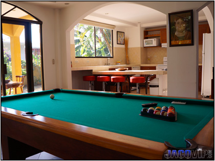 Pool Table Master Living Room in Cielo Azul