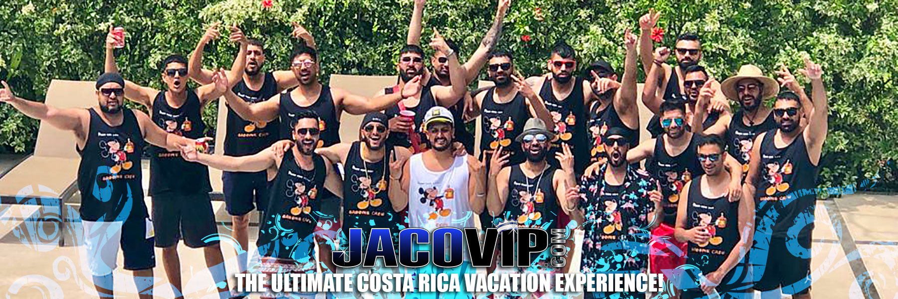 Costa Rica bachelor party group at Rancho De Suenos luxury vacation rental house