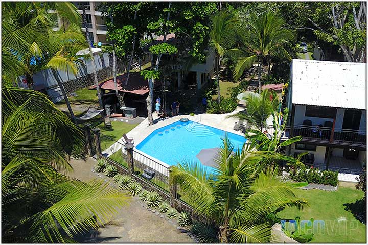 Aerial view of Serenity Point Jaco beachfront vacation rental