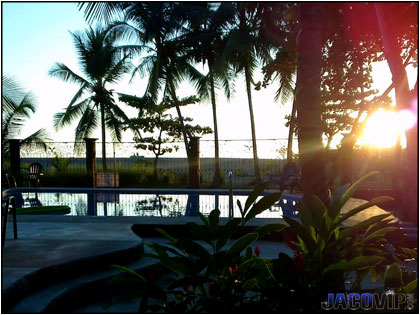 Jaco Beach front sunset views...