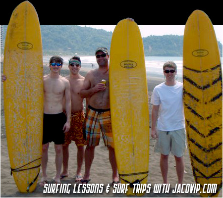Surf lesson at Jaco Beach