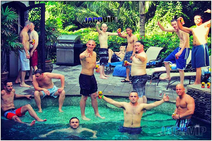 Bachelor Party Group at Villa Antigua South Beach Estate